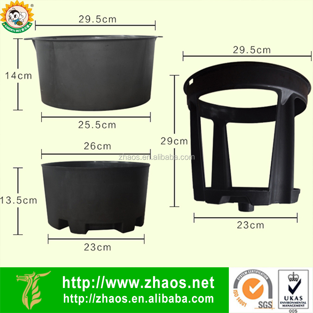 2017 Newest Outdoor Use Potato Planting Plastic Pots Garden