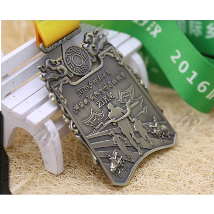 2018 international marathon memory medal design your own medal图片