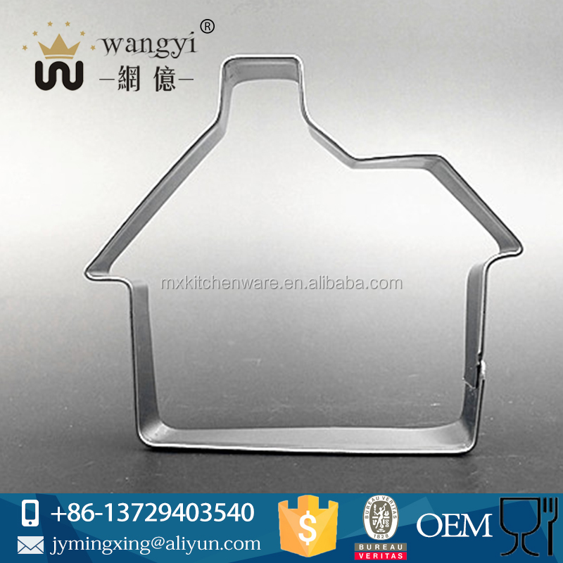 Easy convenient usded lovely cutter custom-made cake mold with house shape