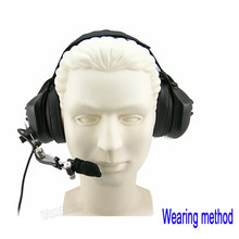 [M-Q1966-M] Heavy Duty Noise Cancelling helmet Military Headset For MOTOROLA walkie talkie