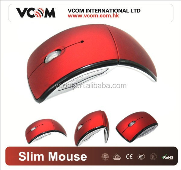 2015 Best Selling 2.4GHZ USB Wireless Mouse Folding Arc Mouse with Factory Price