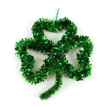 St. Patrick's Day Tinsel Shamrock Wall Decoration