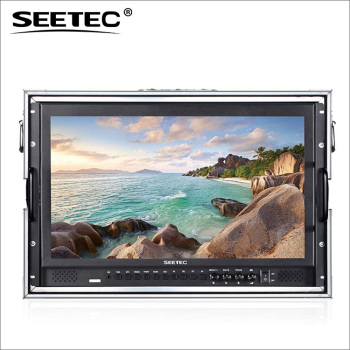 SEETEC 17.3'' full HD 1920*1080 Broadcast video camera monitor with Carry-on suitcase