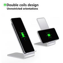 2017 New Product Qi Wireless Charger Stand for iPhone for Samsung for mobile phones dock charging station