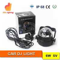 Blue 6LED Car Sound Effect Control Music Sensor Light Chain LED Light 12V Auto sound control music interior light