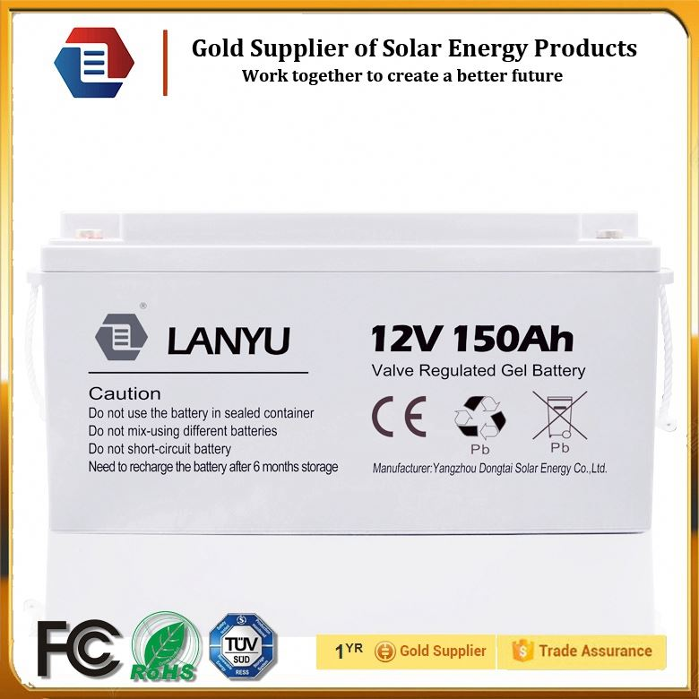 12v 150ah agm deep cycle battery with solar power bank/LYBYGEL12V150C131
