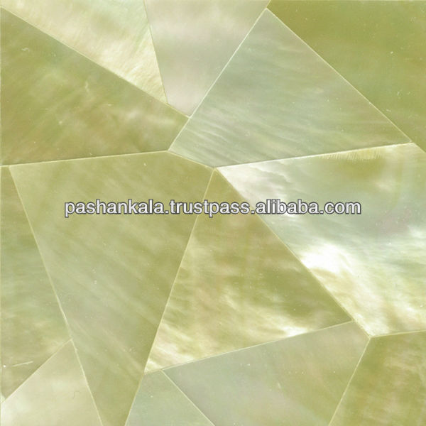 Gold Mother Of Pearl Random Mosaic Tile