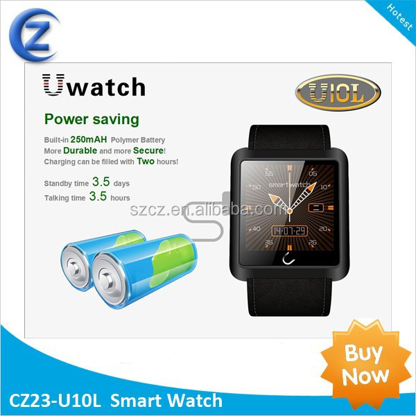 Support Call/SMS/Compass/Bluetooth R/C Camera Wrist Watches <strong>u10</strong> smart watch
