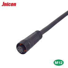 IP67 waterproof sensor straight M12 female cable connector
