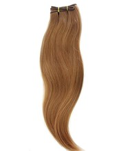 China factory big wave curly blonde hair weft extension human remy hair 100g
