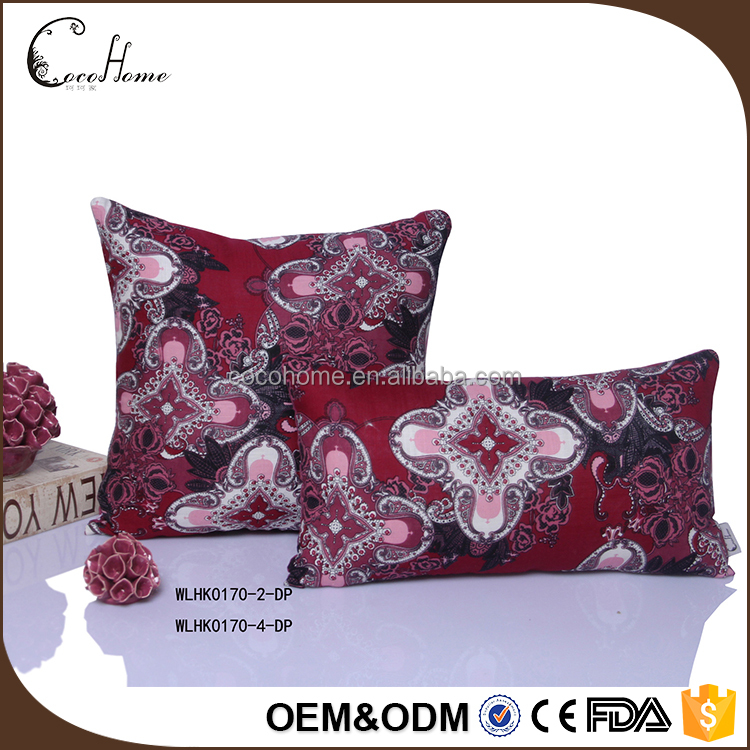 New Fancy Printed Pillow Case/ Cotton Custom Sofa Cushion