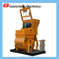 China best factory supply portable twin shaft self loading JS500 750 1000 concrete mixer