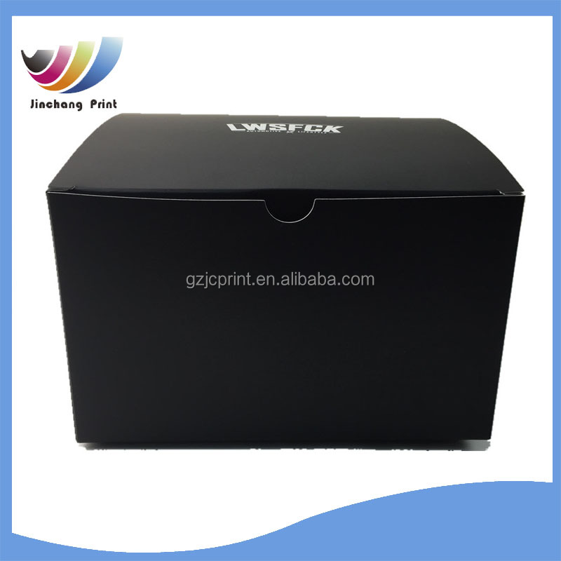 new products Matt lamination art paper printing folded black box