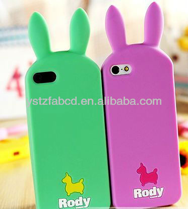 2013 brand new animal cartoon silicone phone cover,silicone cellphone case for Iphone 5