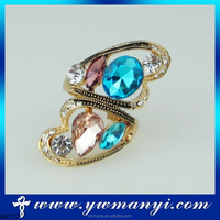 Multicolor crystal ring elegant engagement ring glass jewelry R777