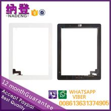 Make in China repair parts for ipad 2 touch glass digitizer assembly with home button OEM