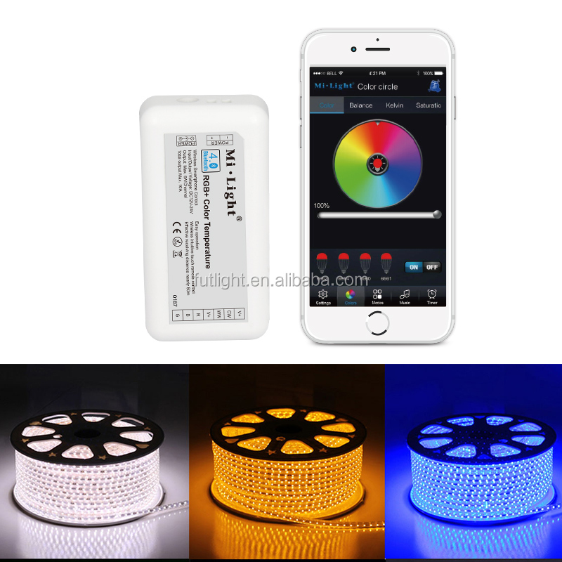Wireless bluetooth led strip dimmer controller 12v 24v RGB color changing strip warm white cold white brightness control dimmer