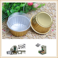 disposable microwave oven safe airline aluminum foil container making machine