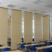 Decorative Movable Aluminum Tracking System Flexible School Wall Panel Sliding Folding Partition Doors