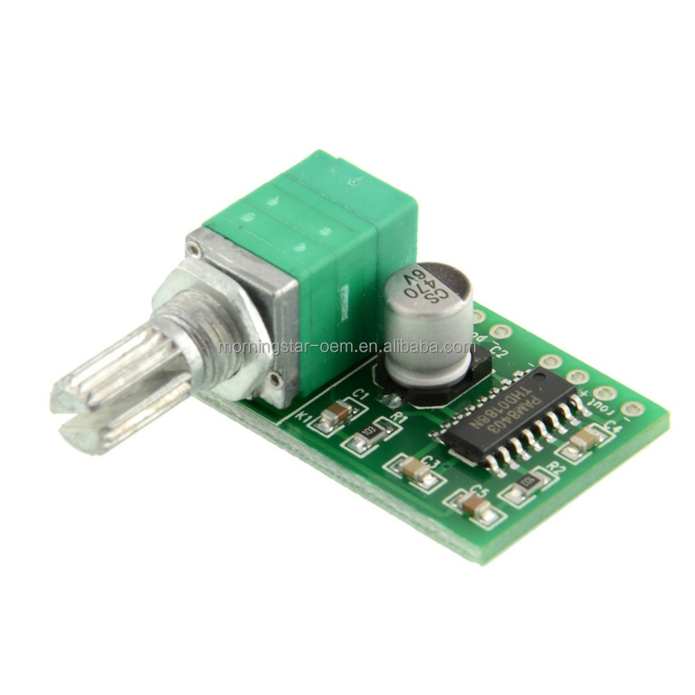 5V USB Power Supply 3W DC AMP Module with switch potentiometer mini digital pam8403 power Audio Amplifier Board
