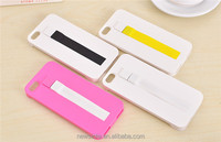 2016 new 2 in 1 design phone cover for iphone case with usb cable multi color phone case with usb cable