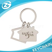 Promotional Cheap Wholesale Customized Discount House Shaped Metal Key Chains