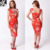 2015 Summer Bright Red Cap Sleeve Sexy New Look Korean Women Dress Fashion