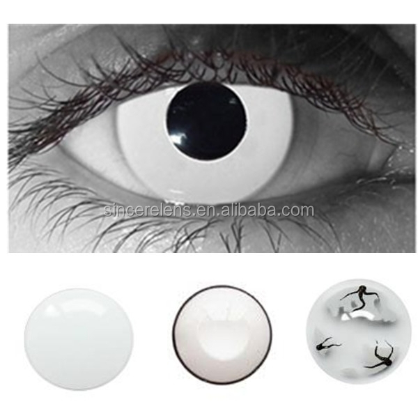 Korea manufacture wholesale cheap price cosplay white contact lenses