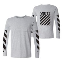 2017 fashion new trend long sleeve tshirt cotton Men's T-shirt
