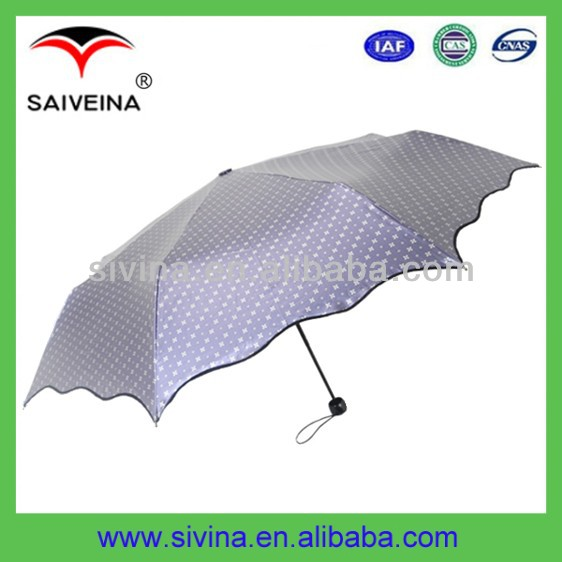 umbrella components 21 inches 8 ribs 3 folding lotus sun umbrella