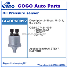 0-10Bar M10*1 0.9+-0.15 Oil Pressure Sensor for Man STEYR DAF VDO OEM 50.27421-0051 7131930051 1268667 30/17C