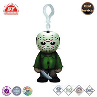 ICTI Factory Freddy Krueger Plastic Action Figure Keychain