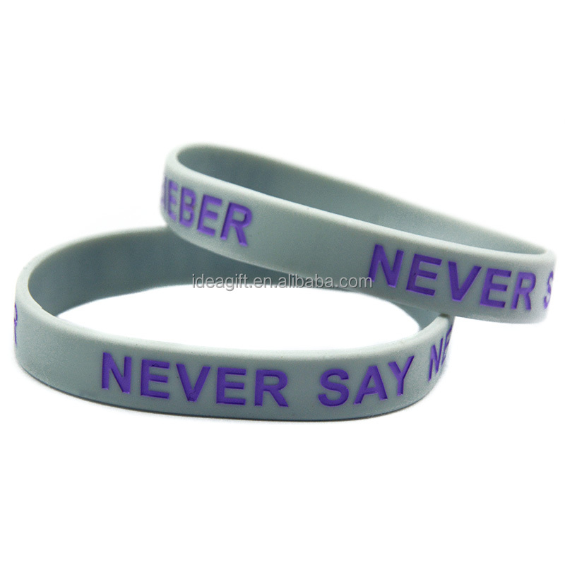 Personalized Design Promotional Silicone Wristband Bracelet - Buy