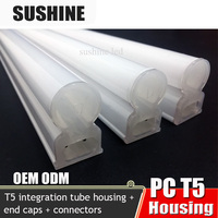 Insulate heating plastic tube housing, Plastic T5 Integration lampshade 2016 New