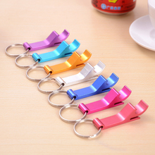 Factory Price promotion wholesale gift Metal aluminum alloy key chain multil colors bottle opener metal keychain