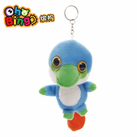 Lovely Blue Bird Toy Plush,Cute Plush Bird Stuffed Soft Keychain