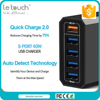 Guangdong manufacture 5 USB ports QC2.0 smart cell phone charger station