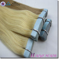 Hair Factory ,double drawn remy cheap price indian remy 100% european hair tape hair extension