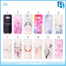 Extremely slim transparent simple beautiful tpu mobile phone case for Samsung S8