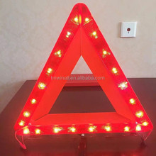 Mini vehicles accident warning triangle, reflective roadside parking triangle kit