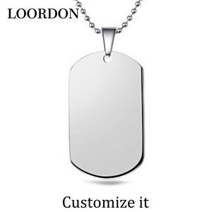 LOORDON Stainless Steel Blank Dog Tag Jewelry accessory