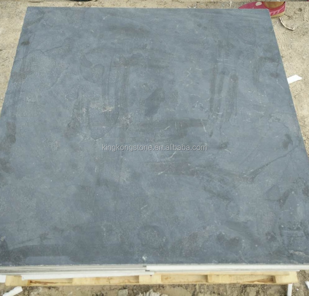 factory supply Chinese blue limestone L828 honed and tumbled slabs 100x100x3cm