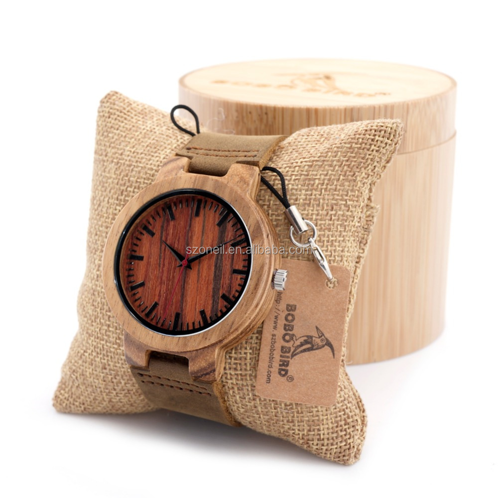 Watches lady custom logo on watch back free sample wooden watches
