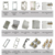 china  5gang SAA light switch australia, free sample AS/NZS horizontal white silver golden 5gang wall switch