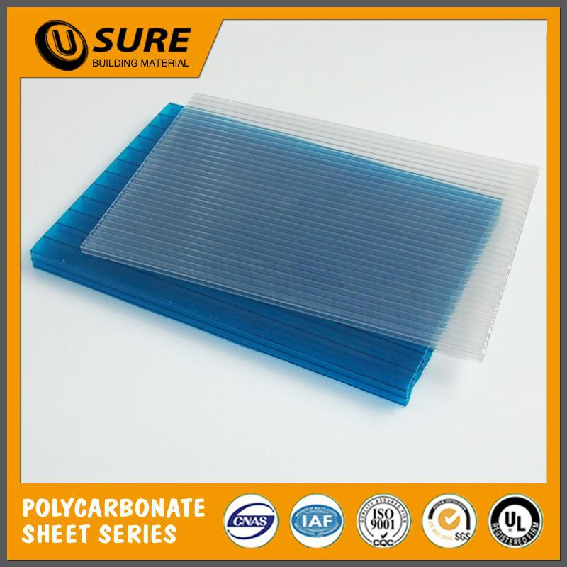 fire retardancy low price triple wall polycarbonate panel with x structure