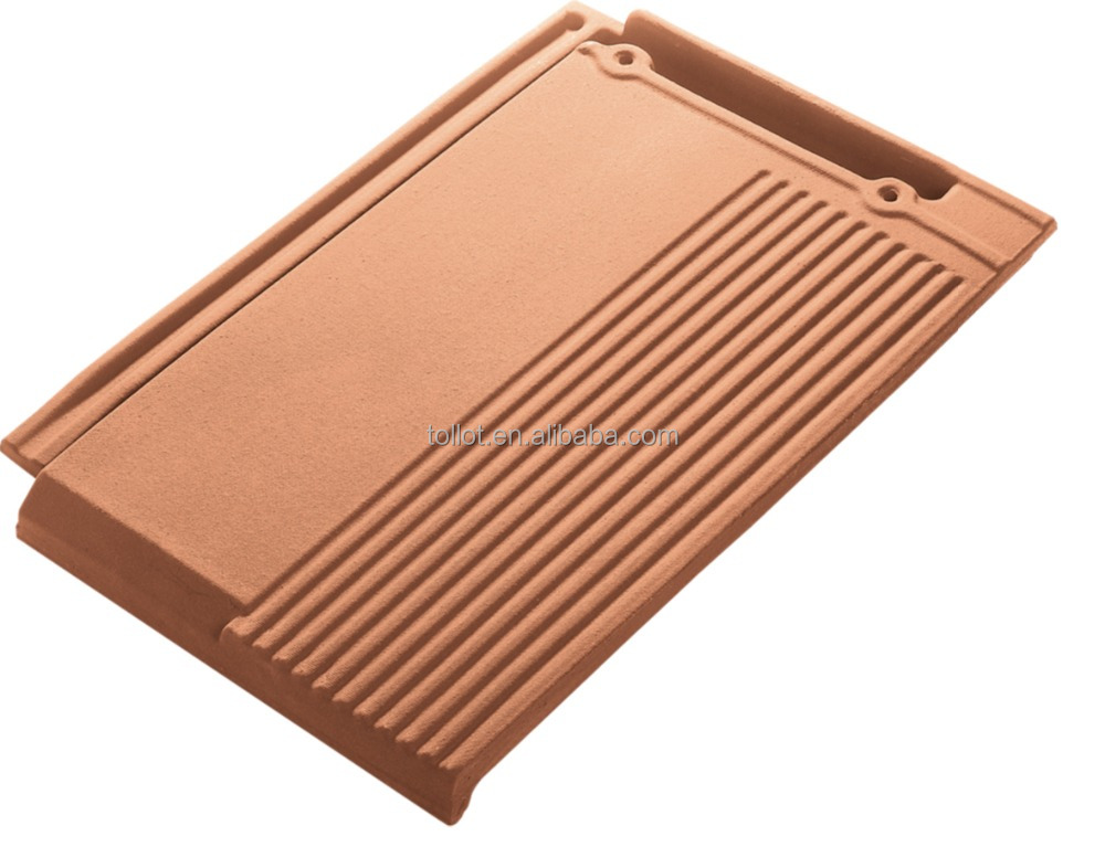 Popular Construction Material Red Clay Flat Roof Tile 410*275