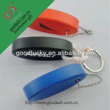 Popular leather floating retractable PU key chain