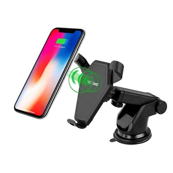 Wireless Charger Qi Fast Wireless Charging Car Mount Phone Holder for iPhone X 8 Plus Samsung Galaxy S8 S9 Plus