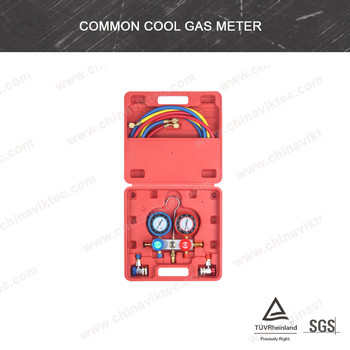 Auto A/C Cool Gas Meter Air Conditioner Diagnostic Gauges Professional(VT01048)