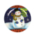 Christmas theme activities snowman printing round shape plate/sugar cane plate/dinner plate